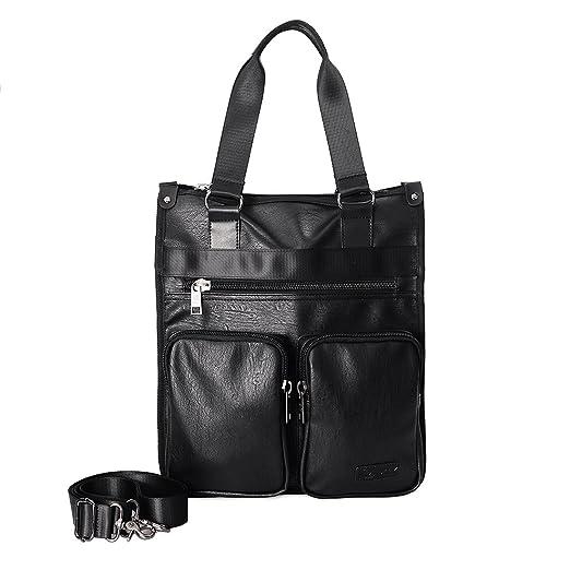 d5e7be166b7b Douguyan 15.6 Inch Laptop Bag Vertical Canvas Messenger Bag Shoulder Tote  Bag Canvas Briefcase for Men