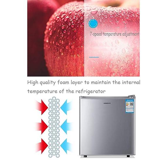 Mini-nevera Lxn Refrigerador Compacto de Plata de una Sola Puerta ...