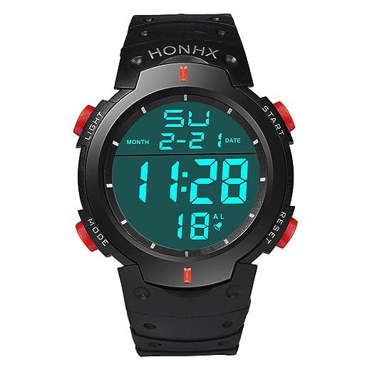Yivise Reloj de Pulsera Deportivo para Hombre Multifuncional a Prueba de Agua LED Cronómetro Digital Fecha