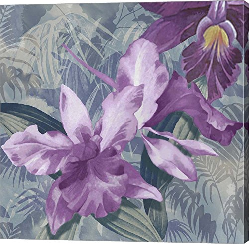 Windsong Orchid Blooms by Bill Jackson - purple floral wall art