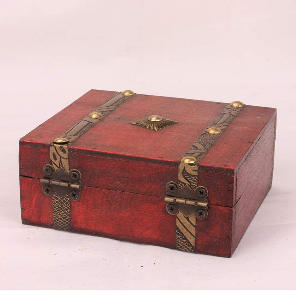 Antique Vintage Wooden Handmade Travel Organizer Retro Display Storage Case Retro for Storing Rings Earrings Necklace Treasure Pearl Jieson Jewelry Box 1 pcs Trinket Box Home Decorative