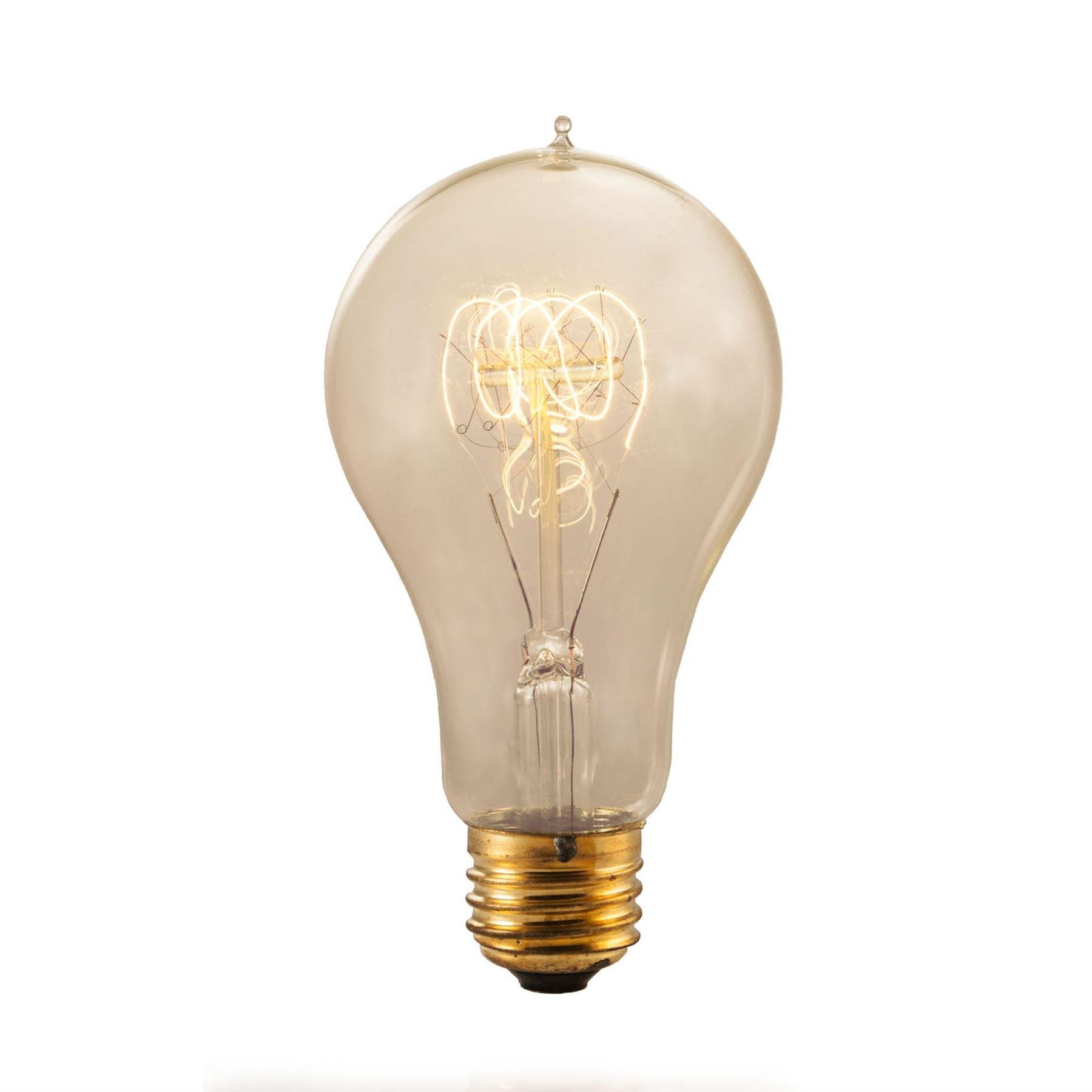 Bulbrite NOS25-VICTOR/A21 25-Watt Nostalgic Edison A21 Bulb, Victorian Loop Filament - 6 Pack