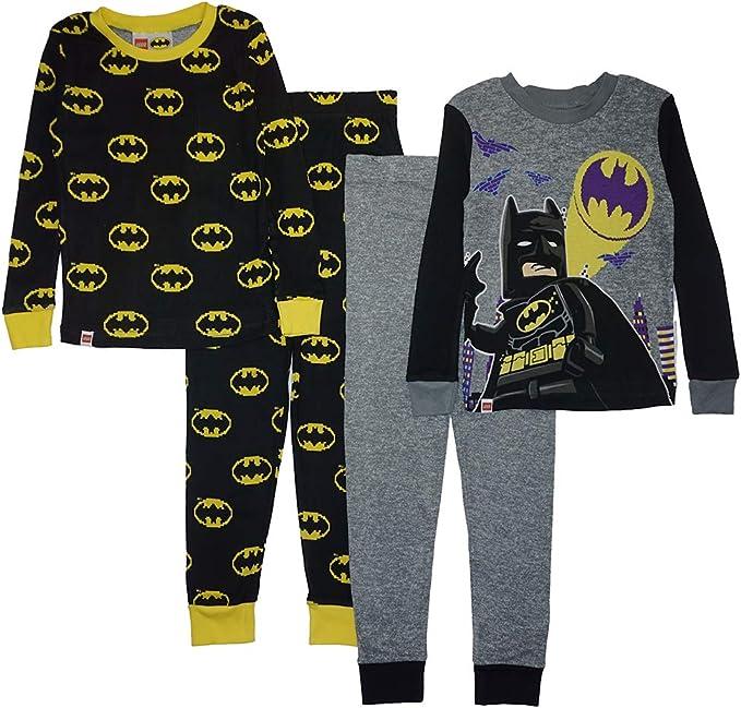 Boys 2pc Short Sleeve Cotton Pajamas Lego DC Comics Super Heros Batman BADDIES