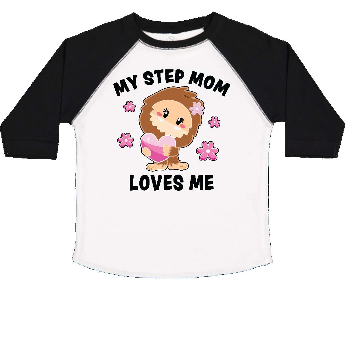 inktastic My Step Mom Loves Me with Bigfoot Toddler T-Shirt