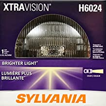 "SYLVANIA H6024 XtraVision Halogen Sealed Beam Headlight (7"" Round) PAR56, (Contains 1 Bulb)"