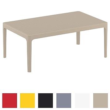 CLP Table Lounge Sky - Table de Jardin Résistante aux Intempéries et aux  Rayons UV - Table de Jardin en Plastique - Couleur au Choix : Taupe