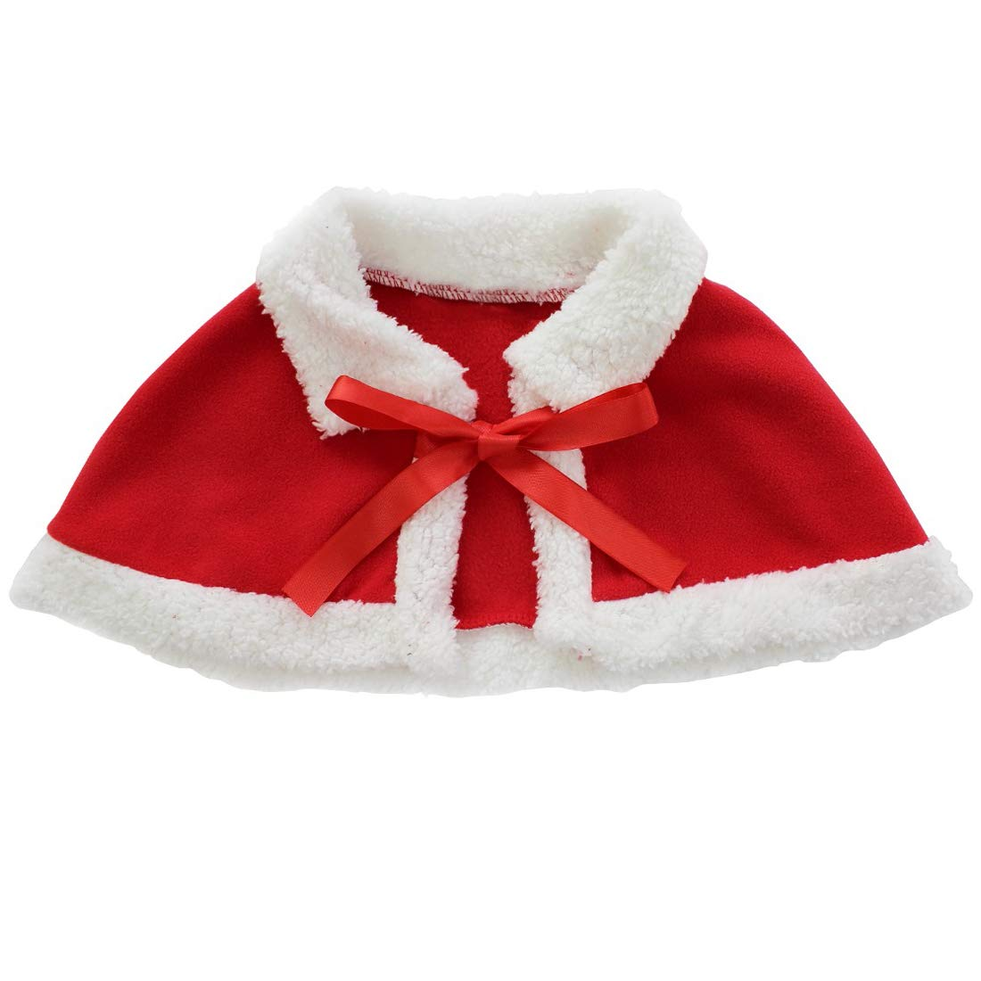 CHICTRY Toddler Girls Princess Christmas Party Santa Claus Costume Dress with Shawl Hat