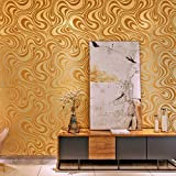 HANMERO Modern Luxury Abstract Curve Textured 3D Wallpaper Roll Murals 27.56inch(2.3ft) x 330inch(27.6ft) for Living Room/TV Sofa Background/Bedroom Five Rolls