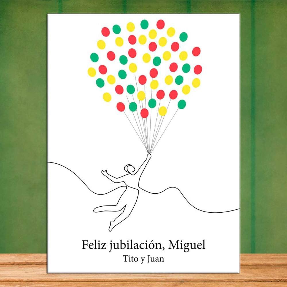 Kit Personalizado con Botella de Vino Copas de Vino en Caja de Madera Calledelregalo Regalo para jubilaci/ón