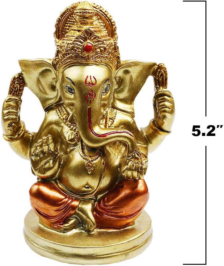 Indian Elephant Lord Ganesha Statue - Hindu Ganesh Idol Car Dashboard - India Diwali Wedding Decor Figurines