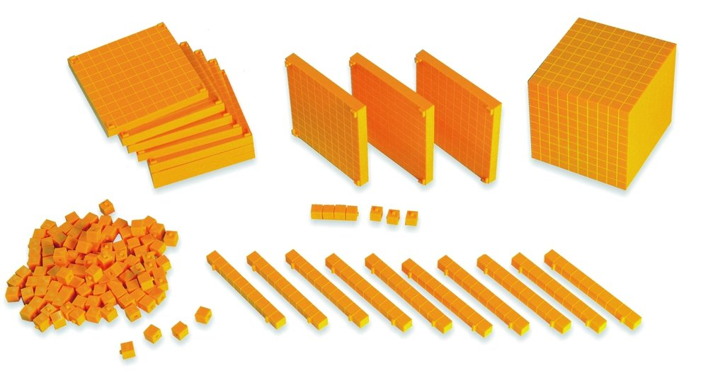 MINILAND EDUCATIONAL 95050 Box Activity Base 10, 121 Bausteine