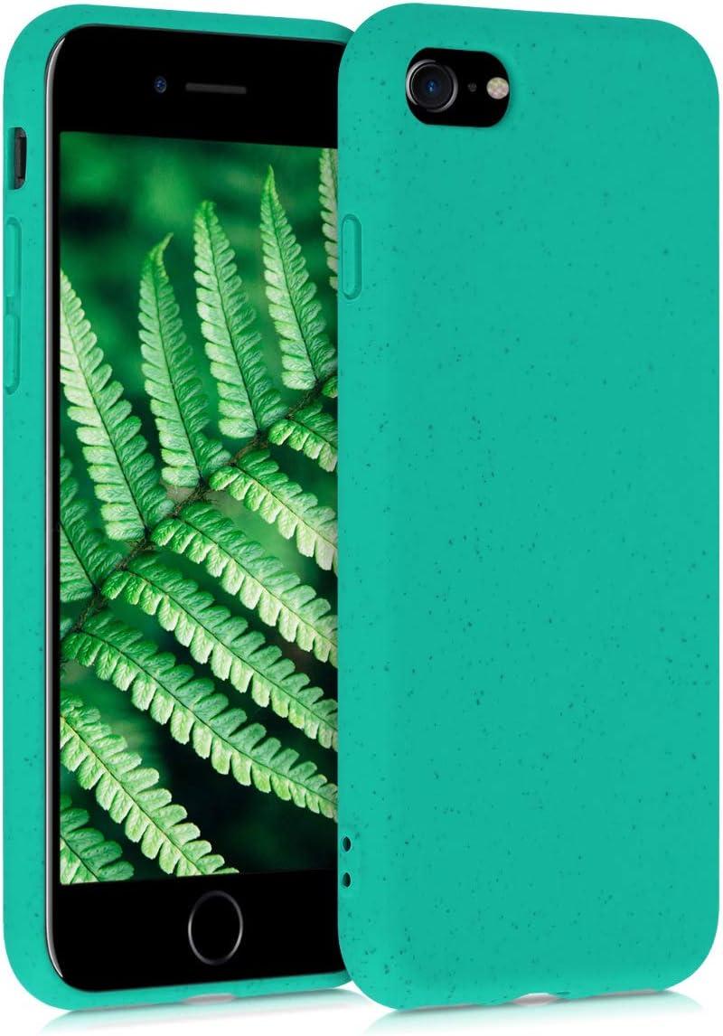 kalibri Funda Compatible con Apple iPhone 7/8 / SE (2020) Carcasa Hecha de TPU y Trigo Natural ecológico - Menta