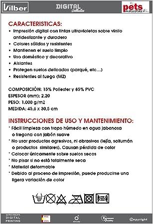 Vilber A050 V01 PIPO.2460 DU 03 Mantel Tapete Comedero Bebedero 45.6 x 30.5 x 0.2 cm Azul