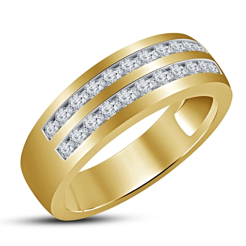997ac184e800 Los hombres de moda Vorra anillo de 925 plata de ley de lujo único boda  banda