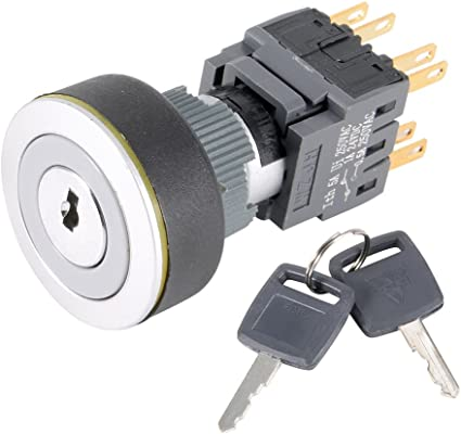 2 Keys 3 Gear Position 22mm Quality ON//OFF Electronic Key Switch