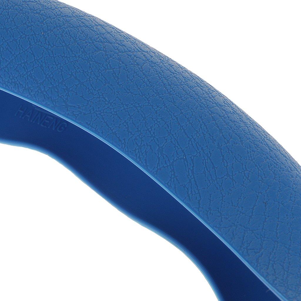 non-brand gazechimp 38cm Impermeable Cubierta De Volante De Coches Rueda De Silicona Amarillo