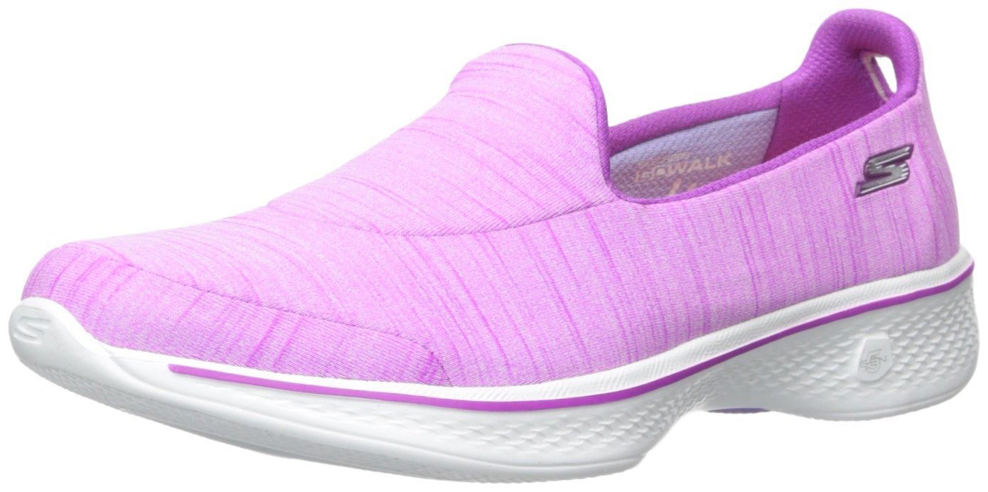 Skechers Damen Go Walk 4-Satisfy Laufschuhe  10 B(M) US|Purple