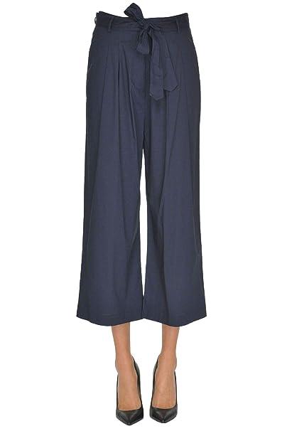 nuovo concetto d1505 de2e5 Seventy Pantaloni Donna Mcglpns000005041e Cotone Blu: Amazon ...