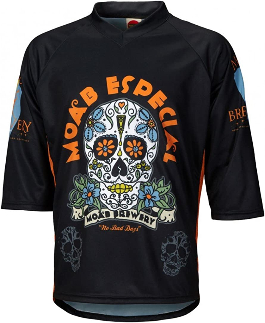 World Jerseys Mens Moab Brewery Especial 3//4 Sleeve Mountain Bike Jersey