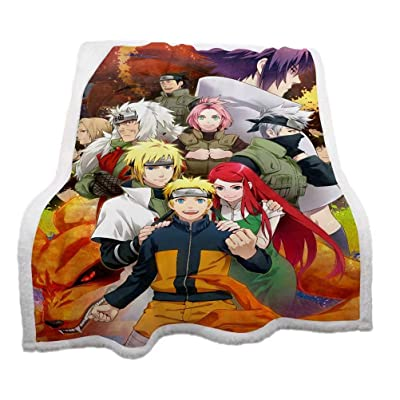 Thick Naruto Throw Blanket Cartoon Characters Blanket Quilt Home Decor 3D Printed Anime Luxurious Plush Blanket for Kids/Anime Fans: Home & Kitchen