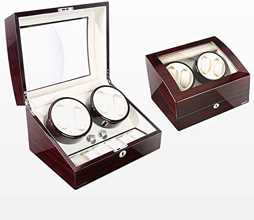 GUOOK Devanadera Reloj Enrollador Reloj Madera AutomáTico 4 + 6 Cajas Almacenamiento para 10 Enrollador Reloj para Relojes AutomáTicos: Amazon.es: Hogar