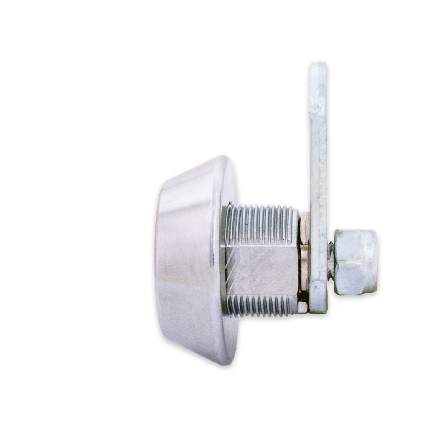 FJM Security C8418B-KD European Style Cam Lock with Stainless Steel Collar Ring and Chrome Finish, Keyed Different by FJM Security (Image #2)