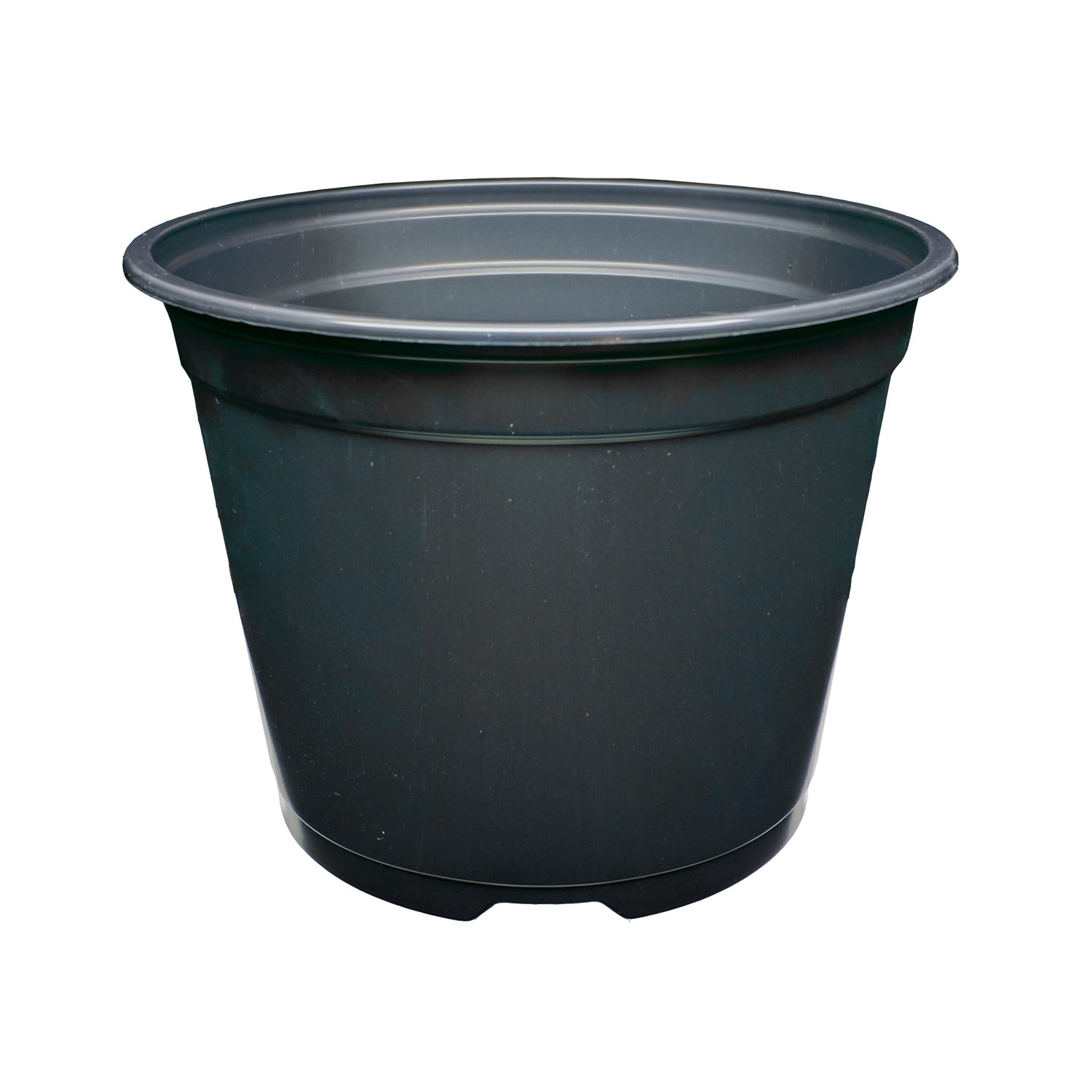 SP600 6'' Round Flower Pots - Made in USA - Reusable, Recyclable - Garden, Hydroponics, Nursery, Farm, Greenhouse (680, Black)