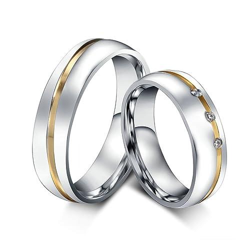Anillos de matrimonio en acero