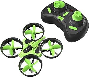 Mini Quadcopter Drone, EACHINE E010 2.4GHz 6-Axis Gyro Remote Control Best Nano Quadcopter Drone Boys Girls - Headless Mode, 3D Flip, One Key Return (Green)