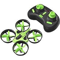 Mini Quadcopter Drone, EACHINE E010 2.4GHz 6-Axis Gyro Remote Control Nano Drone for Adults Beginners - Headless Mode, 3D Flip, One Key Return (Green)