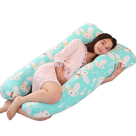 Mujer embarazada en forma de U Almohada Apoyo para dormir ...
