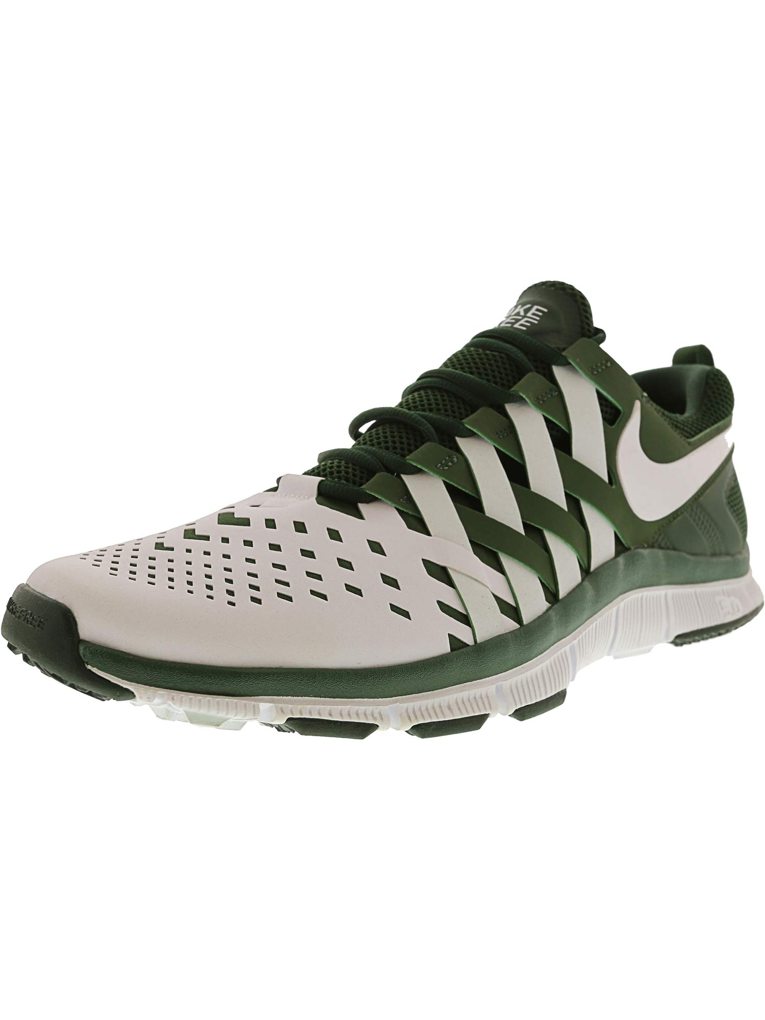 newest 9cbdf 92586 Nike Men's Free Trainer 5.0 Tb Deep Forest/White Ankle-High Tennis Shoe -  15M