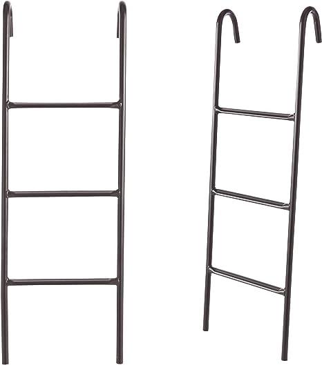 Escalera de Tubos de Acero para Cama elástica, Dimensiones: 100 x 52 cm, einstieg Altura 90