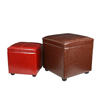 Eshow Ottoman And Foot Stools Shoe Bench With Storage Storage Bench Pouf Ottoman  Storage Ottoman Leather