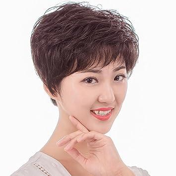 TT pelo corto quimioterapia temperamento suave y esponjosa Sra transpirable peluca de moda