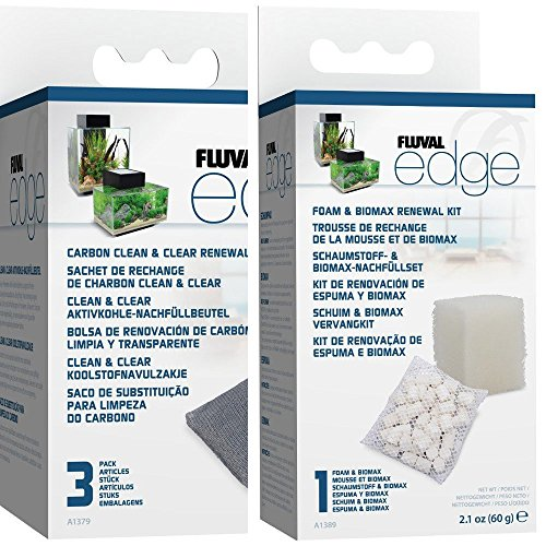fluval edge replacement filter media biomax foam 3xcarbon