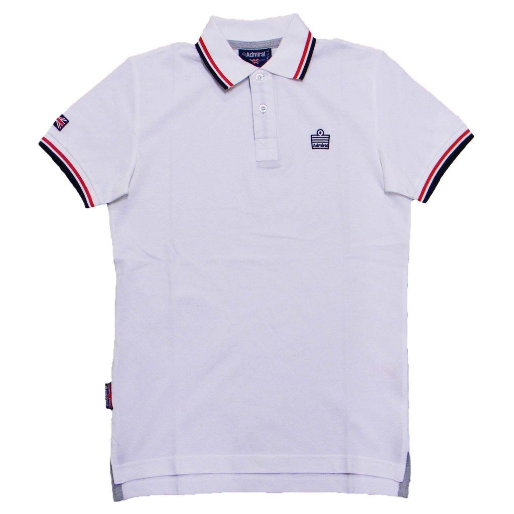 Admiral Polo piquè Uomo White AD1770 095-3XL  Amazon.it  Sport e tempo  libero a3c09735e47
