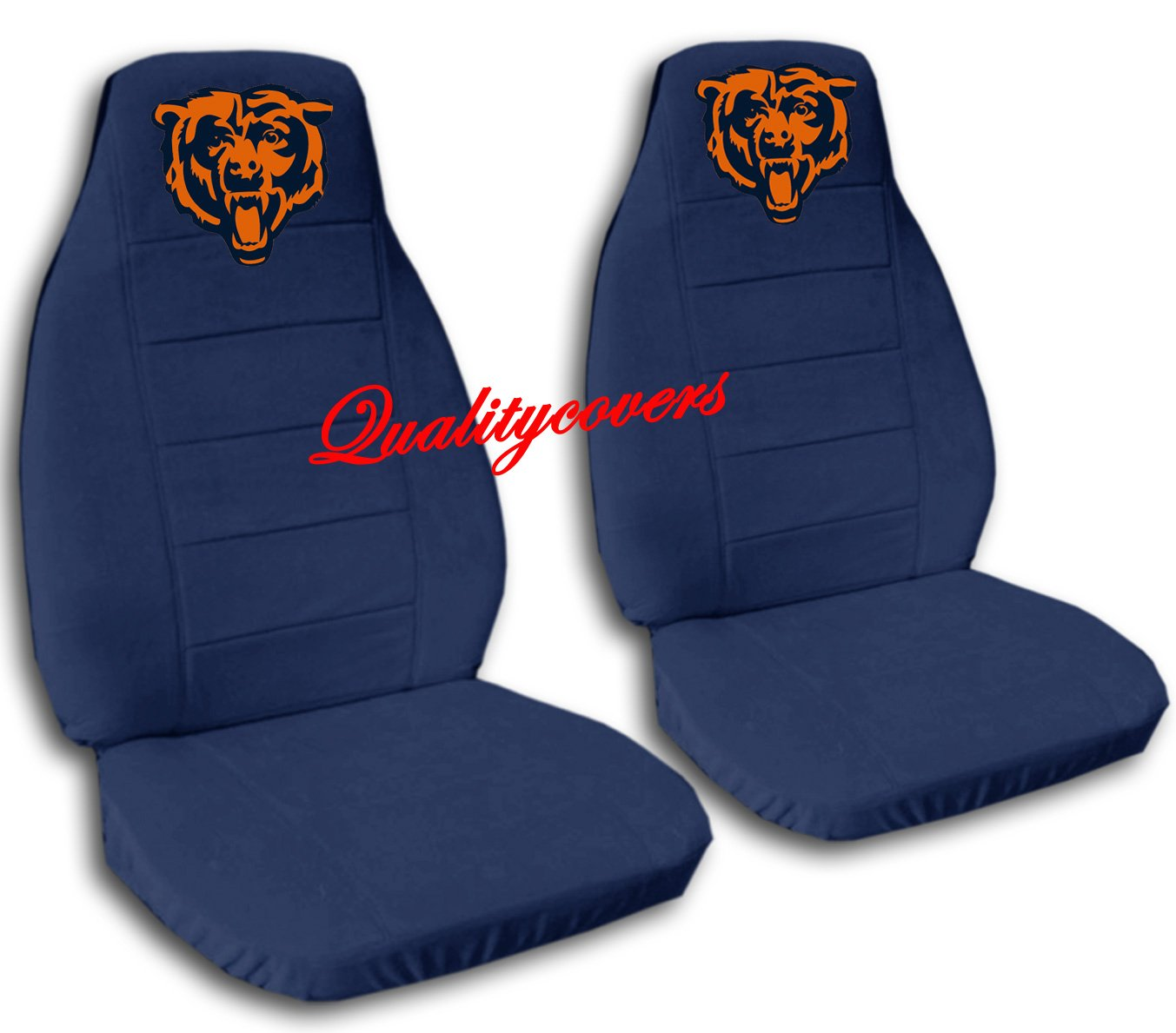 2 Navy Blue Chicago seat covers for a 2007 to 2012 Ford Fusion. Side airbag friendly.