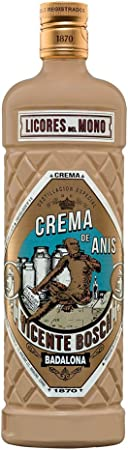 Mono Crema de Anis licor - 1 botella de 70 cl