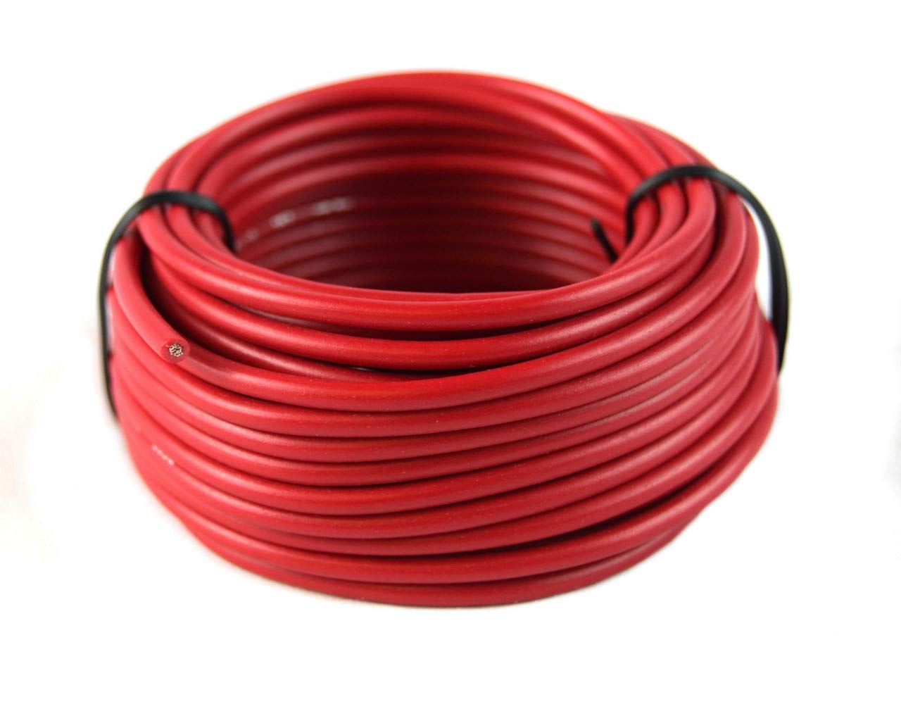 16 Gauge Red /& Black Power Ground Wire 25 FT Each 50 Total Stranded Copper Clad Best Connections