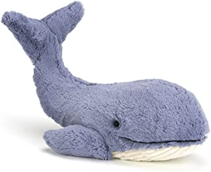 Jellycat Wowser Wilbur Whale Stuffed Animal, 17 inches