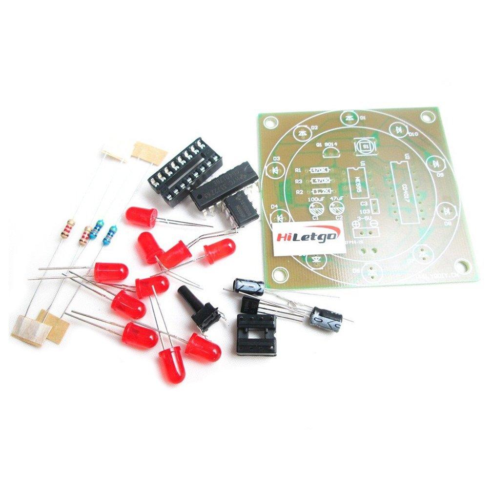 Hiletgo 2pcs Ne555 Cd4017 Electronic Fortune Wheel Kit Amazonco Electronically Designed Dice Game Circuit By Lm555 Electronics