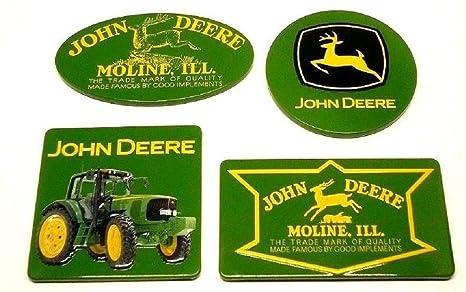 """John Deere Embossed Rustic Look Metal Sign /""""Running  Deere/"""" New Collectible Sign"""