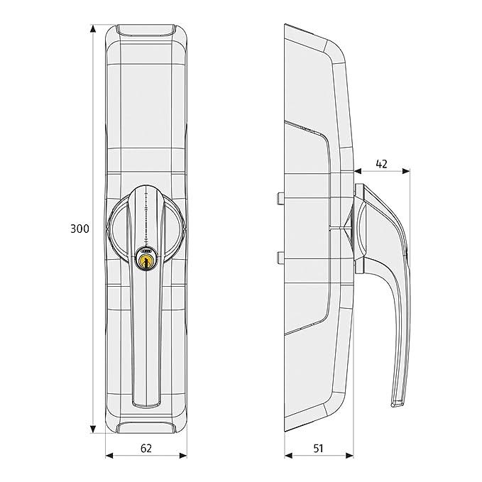 ABUS Funk-Fensterantrieb HomeTec Pro FCA3000 automatisches Schloss ...