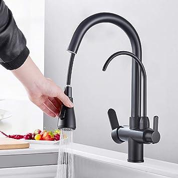 Wasserhahn Spültischarmatur 3 in 1 Wege Trinkwasser Küchenarmatur Küche DE