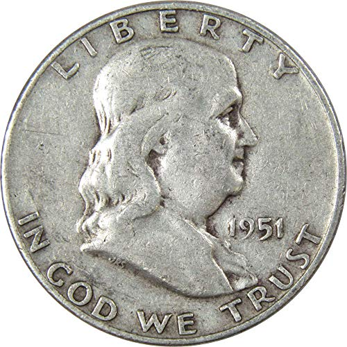 1951-D 50c Franklin Silver Half Dollar Average Circulated ()