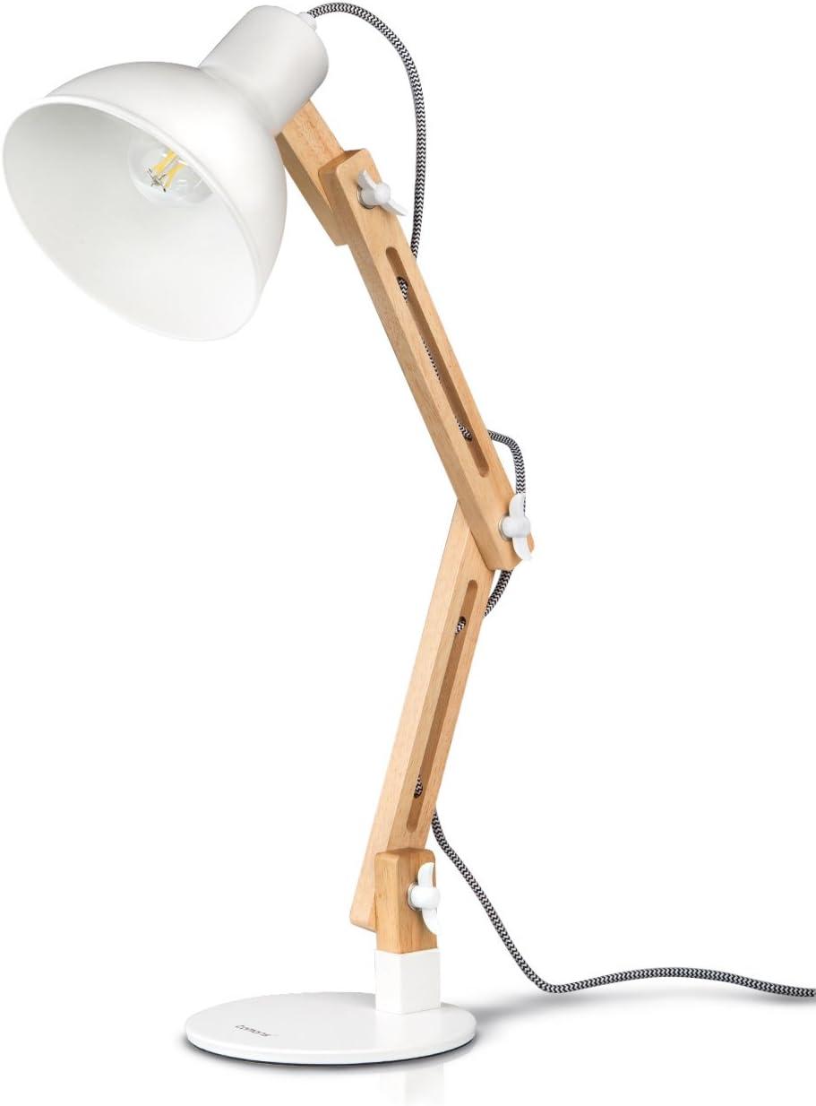 Lámpara de Escritorio,Columpio del Brazo,lámpara de Mesa Ajustable ...