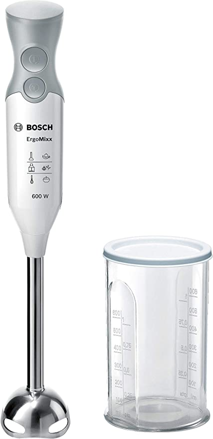 Bosch MSM66110 ErgoMixx Stabmixer, Kunststoff, weiß/telegrau [Energieklasse A]