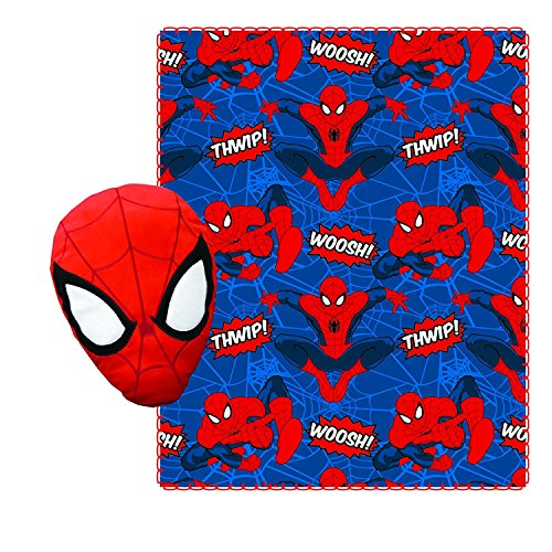 Spiderman Fleece Throw Blanket for Kids and Plush Stuffed To