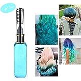 Haarkreide - Greencolourful Mode Langlebige Einweg Haar Farben Creme Haare Färben Kreide Haartönungen mit Kämme, Hellblau